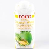 Вода кокосовая с соком ананаса FOCO 330 мл