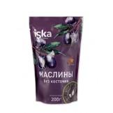 Маслины черные ISKA б/к дойпак 200гр